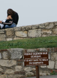 Says nothing about kissing on ramparts