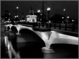 Bridge night bw