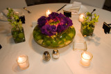 Limes in a bowl with Eustoma & green orchids, Photo by Erick, www.claudiaphoto.com