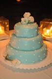 Tiffany Blue wedding cake. Photo by Cecilia Dumas, www.ceciliadumas.com