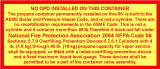 2 X 4 NO OPD / PROPANE TANK EXEMPTION DECAL, $4.00 EACH  BE SURE TO PRINT OUT THE FOLLOWING PDF FILE TO CARRY WITH YOU.