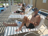 Tim Kj poolside at Furnace Creek Ranch