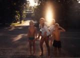 kids near the water in Lake Geneva, WI