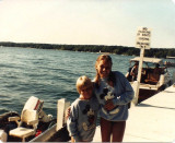 on the pier where I grew up in Lake Geneva, WI