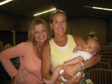 Shannon, Lisa Smith-Batchen and Jet at the pre-race meeting
