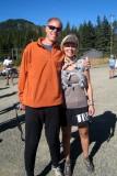Tropical John (crew/pacer) & Lisa Henson (runner)