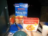 Pancake mix and animal molds.  Tim can't wait to make a pig pancake.