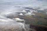 Clouds hugging the ground
