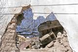 Crumbling adobe buildings