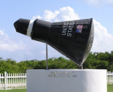 Replica of John Glenn's Spaceship Frendship 7 that Landed in the Waters Near Grand Turk