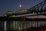 Moon and Quebec Bridge
