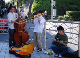 Street music performers in Nakano