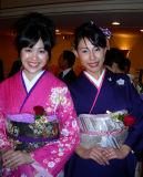 Flowers in flowery kimonos