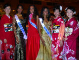 Miss Ecuador, Martinique, Gaudolupe & Japanese beauty contestants