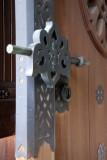 A temple door lock