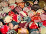 Japanese silk buttons