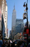 The lifely streets of NY with its massive buildings