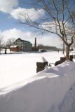 snow overwhelming the promenade...