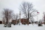 Mynderse Academy... Vetrans Park snowing...