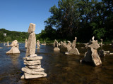 Stacked rocks in Humber River