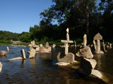 more Stacked rocks in Humber River