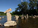 Humber River stacked rocks