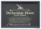 Declaration House Plaque