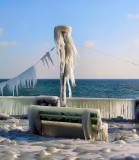Very cold bench