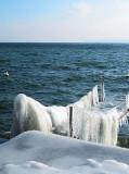 Frozen pier