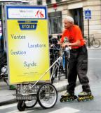 The elderly  roller...