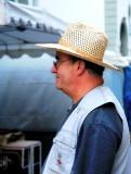 A satisfied flea market dealer...
