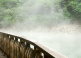 Steam belches from Beitou Hot Spring