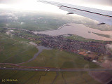 Descending to Schiphol Airport in  Amsterdam