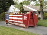Patriotic Dumpster