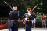 changing of the guard at the tomb of the unknown soldier, arlington national cemetary (7/2007)