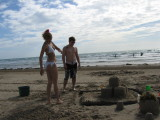 jeanna and zaine at south padre island, texas 7/05
