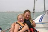 amanda and dana at south padre island