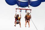 dana and amanda parasailing at south padre island