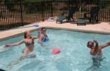 amanda playing volley ball (lake LBJ)