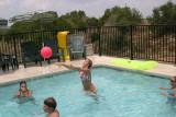 jeanna playing volley ball (lake LBJ)