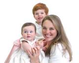 children with mom