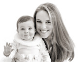 mother daughter bw