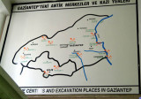 Turkey-Gazintep-Museum-Map Excavations