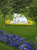 Turkey - Istanbul -D Palace - Garden Sculpture