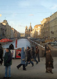 Street Scene - Canal & Cathedral Bleeding Heart