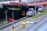 Miraflores Locks - Transit with Mules towing
