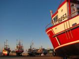 lever du jour au port de Rimouski