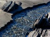 le ruisseau sur la plage de Métis-sur-mer