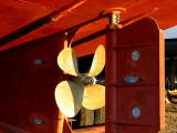 l'hélice du bateau