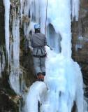 la glace et l'alpiniste